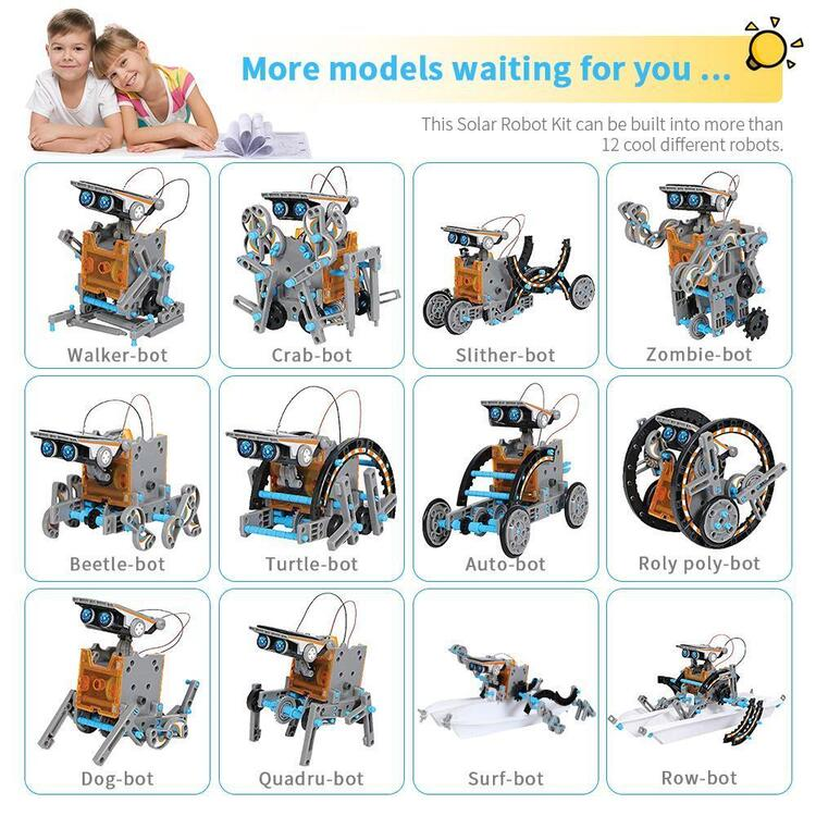 12-in-1 Educational Solar Robot Toys ✈Buy 2 Free Shipping & Save $10