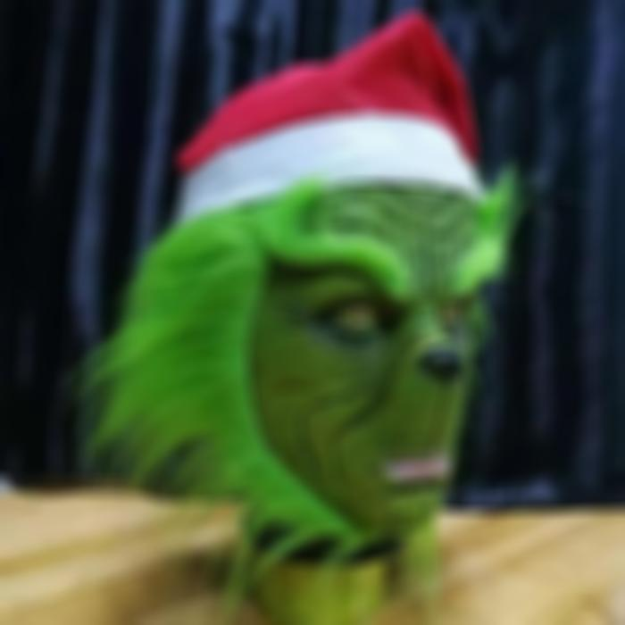 Arosetop  (About to Sold Out) The Grinch Costume Adult With Mask Suit - How the Grinch Stole Christmas Movie Cosplay Santa Grinch Mask Costume