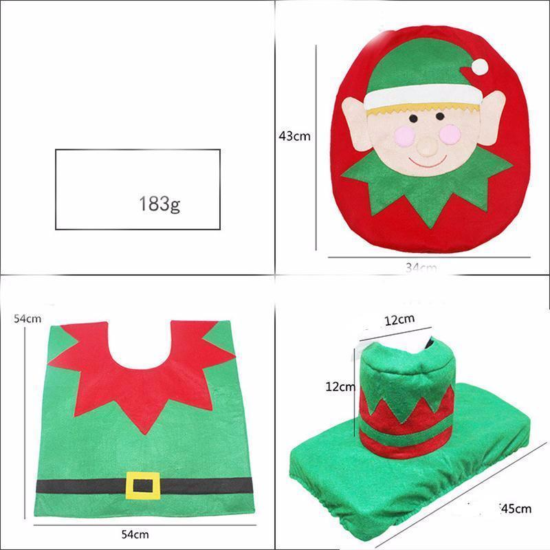 3-in-1 Christmas Toilet Seat Cover (1 Set)