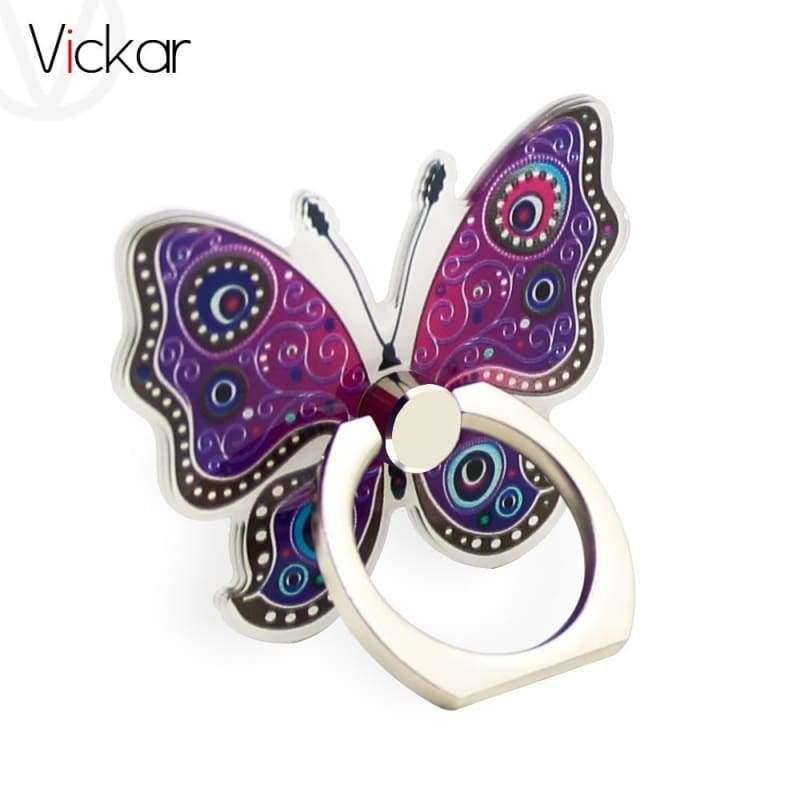 Butterfly Metal Ring Universal Mobile Cell Phone Stand Holder for Smartphone&Samsung&iphone Adjustable Support Phone Holder