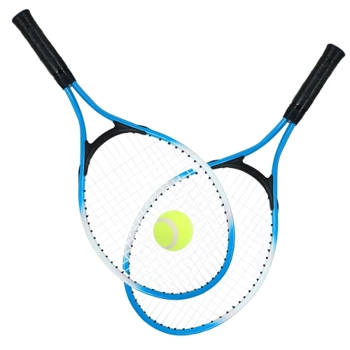 2Pcs Kids Tennis Racket String Tennis Racquets with 1 Tennis Ball and Cover Bag