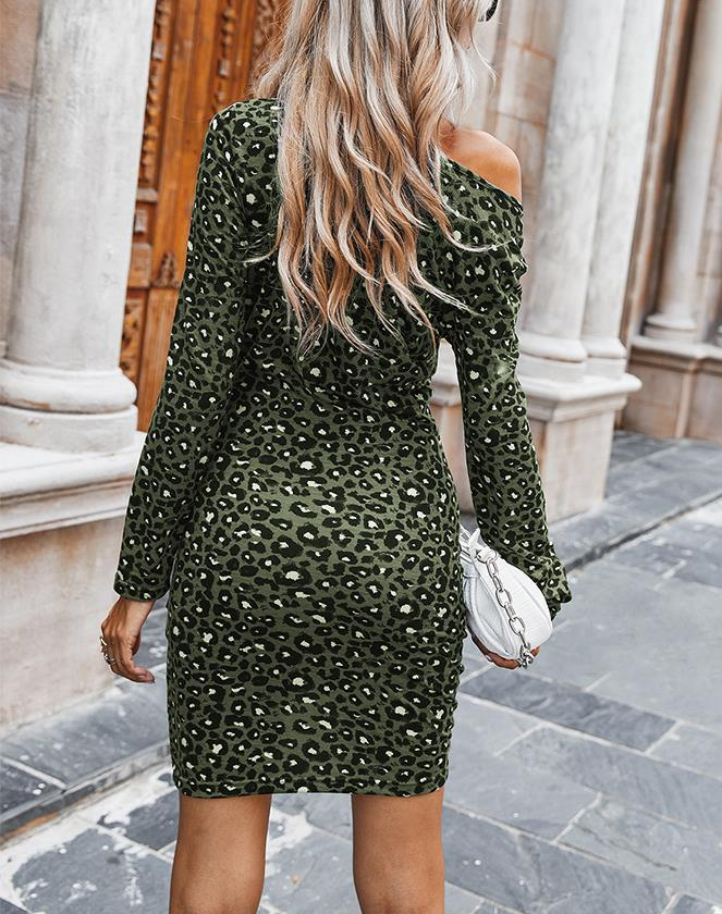 Leopard Print Slim with Dresses
