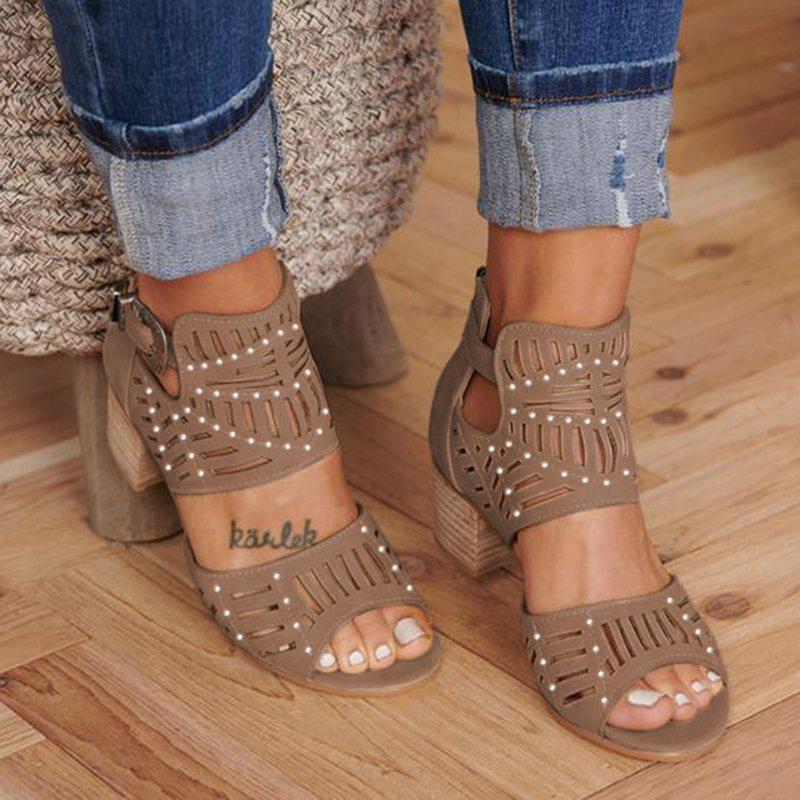 Women Cut-out Slip-on Booties