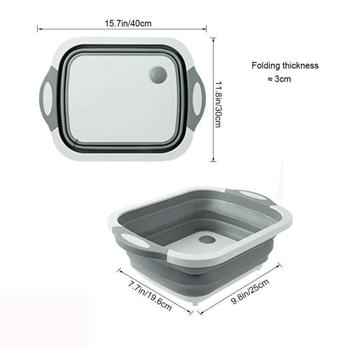 50% OFF- Eco-Friendly 3 in 1 Multifunctional Foldable Washing Bowl