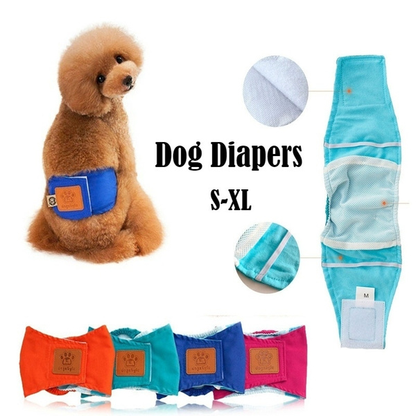 Puppy Teddy Washable Diapers Dog Sanitary Pants Underwear Pet Dogs Diapers Pet Supplies