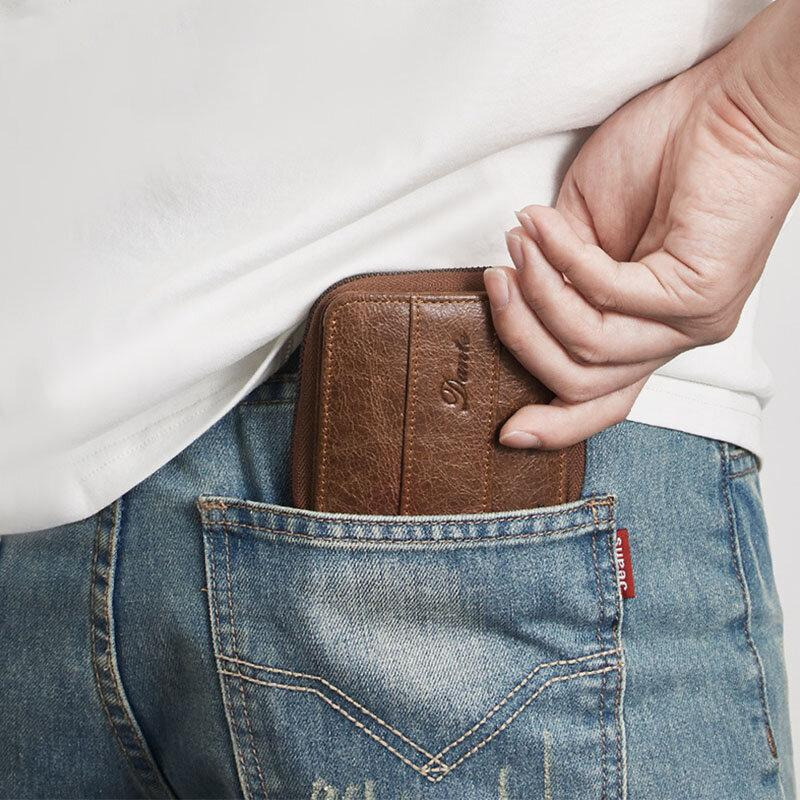 Folding Genuine Leather Casual Wallet