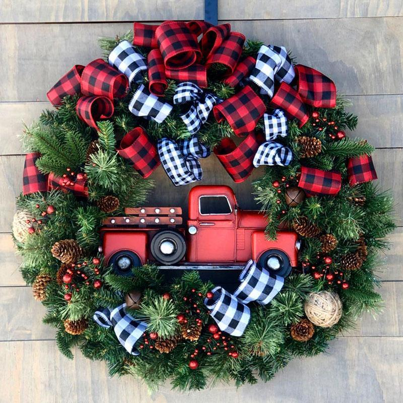 🔥FREE SHIPPING🔥Bestselling Red Truck Christmas Wreath