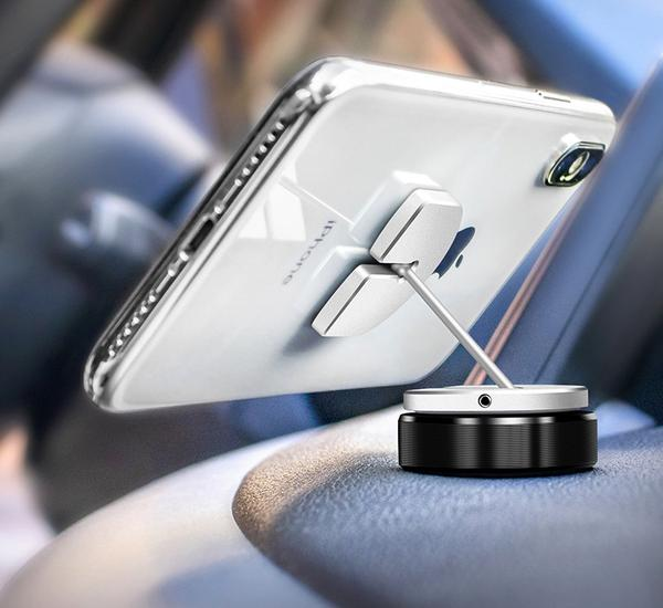 SKRTEN Universal Re-attachable Car Phone Mount, Three Ways To Fix: Sticker, Magnet & Buckle
