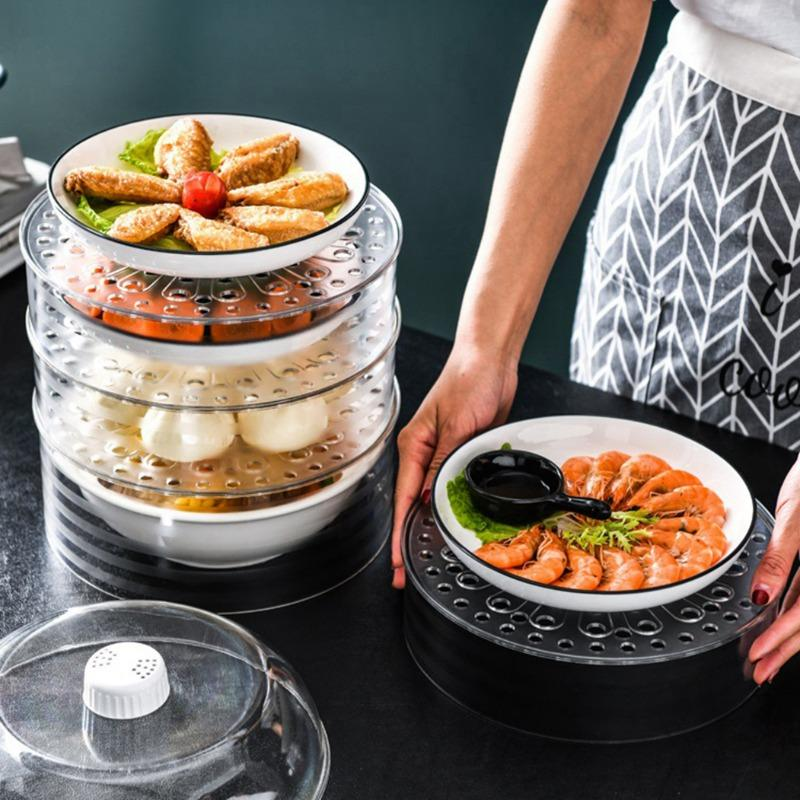 Transparent And Stackable Food Insulation Cover