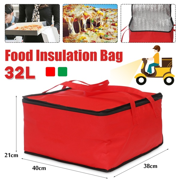 32L Food Insulation Bag Pizza Heat Keeping Box Outdoor Picnic Waterproof Storage Bag