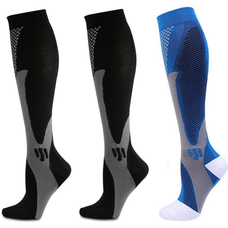 Top-Armor Graduated Compression Socks 20-30mmHg (3 Pairs) For Men & Women's