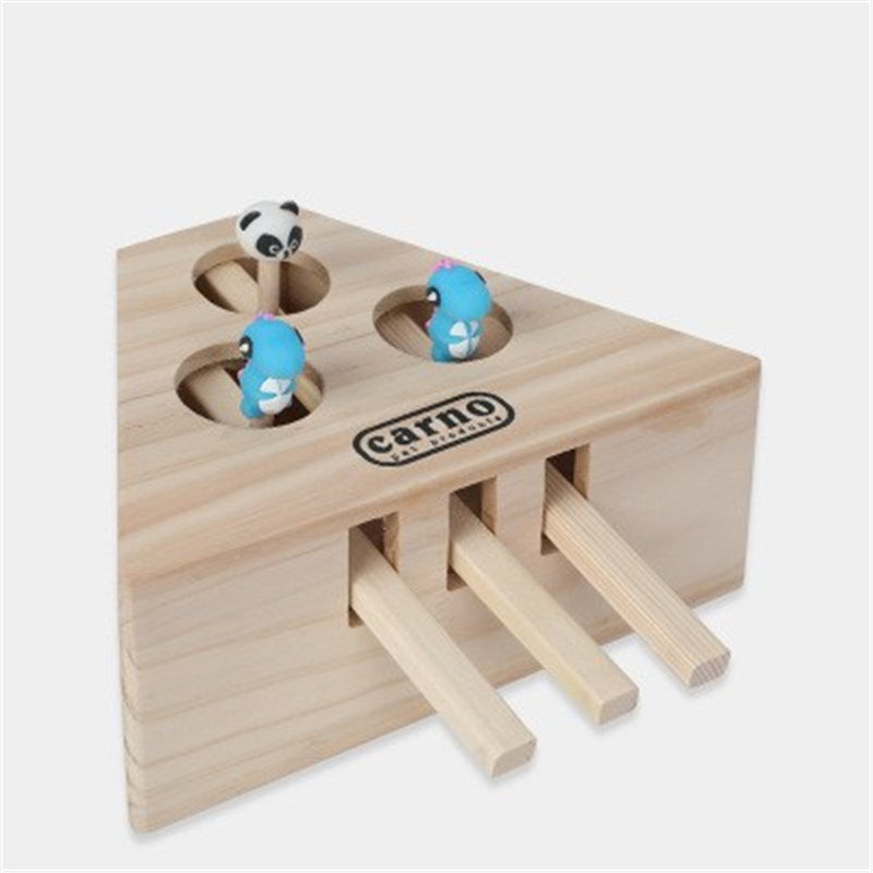 【50% Off  Today】Interactive Wooden Cat Toy