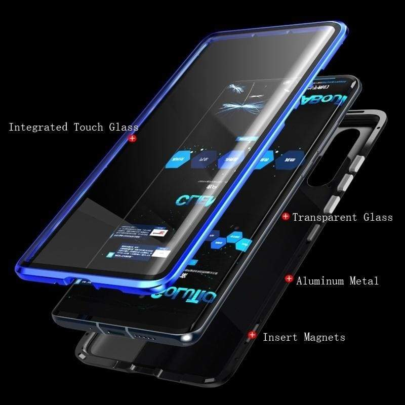 for iPhone 11 Pro Max Xs X XR Xs 8Plus 7 6s Full Body Protector Magnetic Adsorption Full Tempered Glass Case Cover