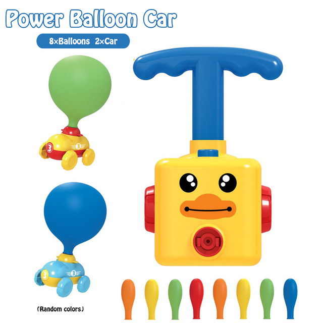 【Three-day discount】™2020🔥2 -In-1 BALLOON LAUNCHER & POWERED CAR TOY SET