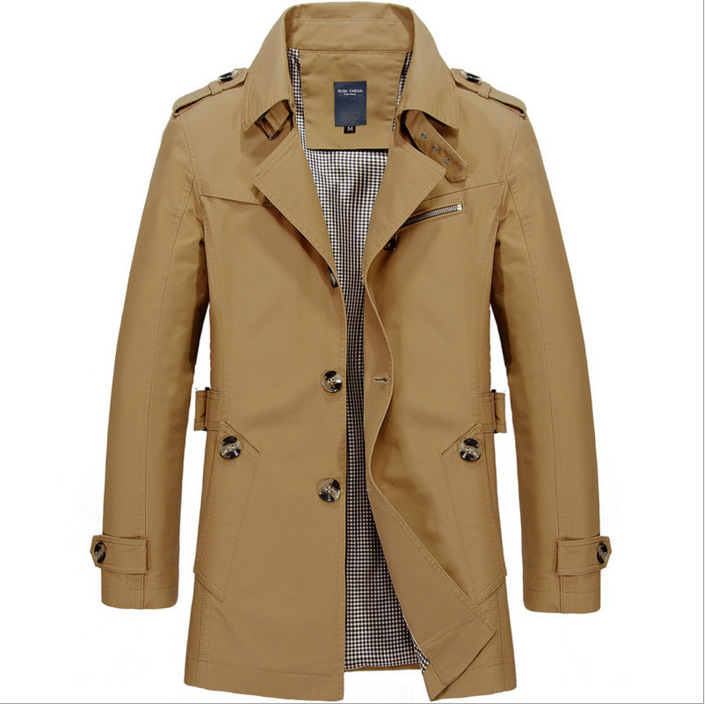 Men's Mid-length Casual Trench Coat (𝐟𝐫𝐞𝐞 𝐬𝐡𝐢𝐩𝐩𝐢𝐧𝐠)