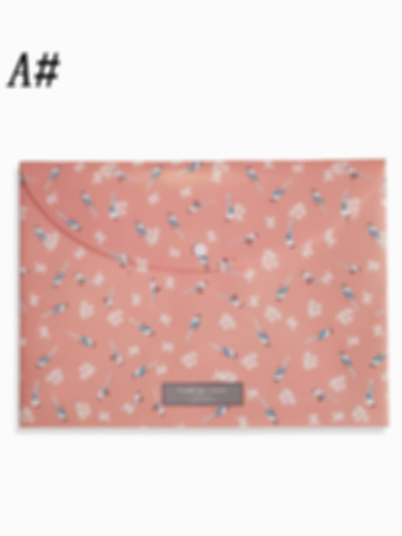 Floral Overlay Print File Bag 1pc