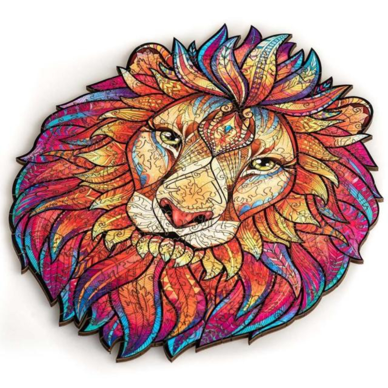 Magic Wooden Jigsaw Puzzle - Mysterious Lion🦁 | Best Gift for Children