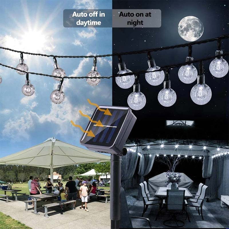 Solar Powered LED Outdoor String Lights