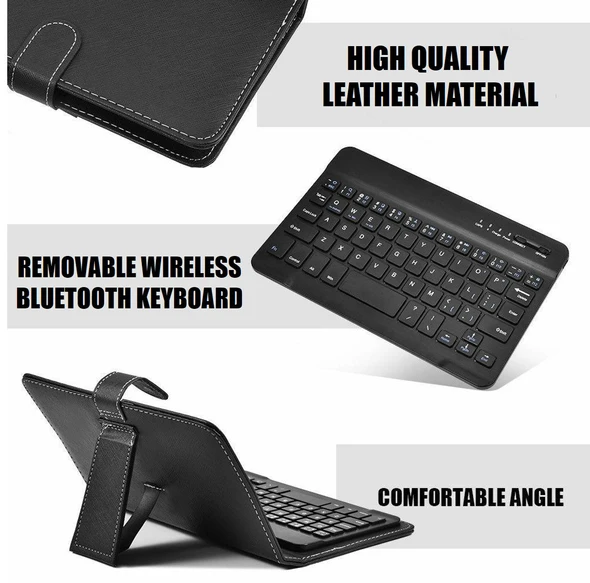 ✨50% off Last day Promotion✨ Wireless Bluetooth Keyboard With Leather Case