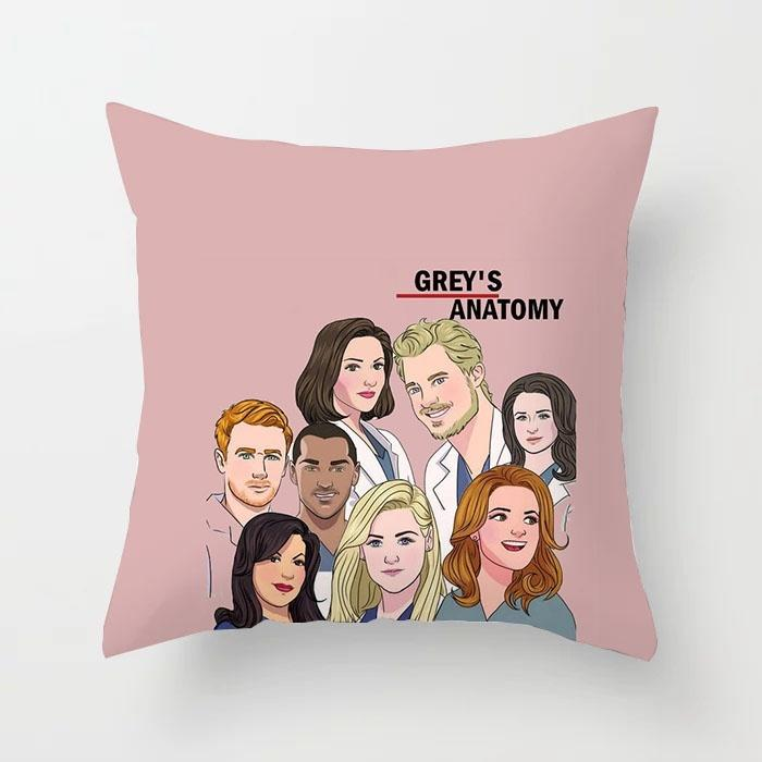Grey's Grey Is Anatomy TV You're My Person Pattern Polyester Pillow Case  Cushion Cover Throw Pillows Sofa Living Room Cushions Car Home Decor 45*45cm