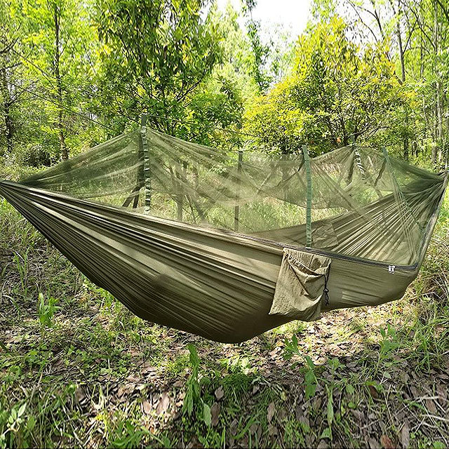 2 Person Portable Outdoor Camping Hammock with Mosquito Net