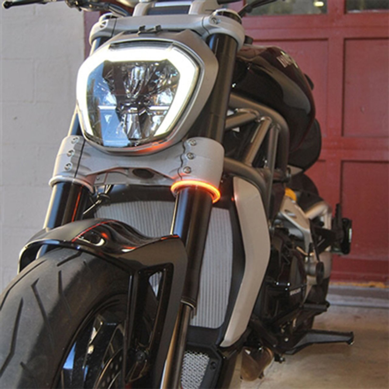 TODAY!!! Fork Mount LED Turn Signals ,Double color transformation