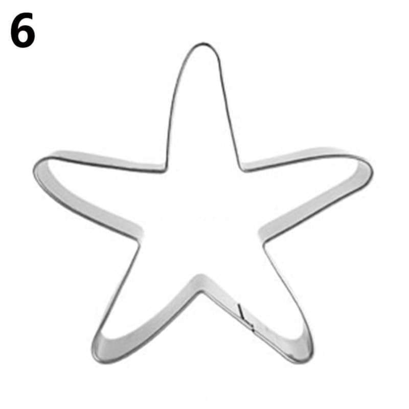 Cookie cutter stainless steel house shell pastry cake biscuit kitchen tool 1pc shark