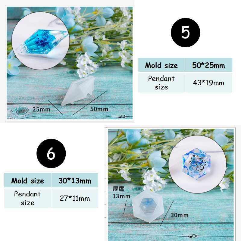 Healing Point Pendant  Resin Mold Silicone Mold Epoxy Mold DIY Jewelry Making