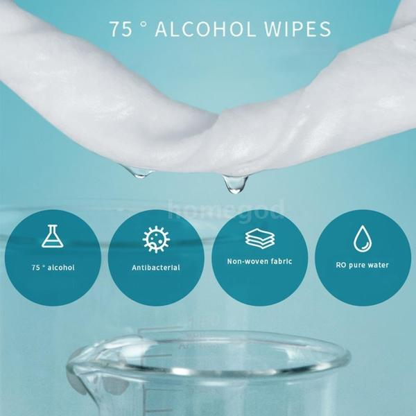 50 PCS/PACK-- Disinfectant Wipes Sterilized, Easy To Wipe, Disposable, Medical Grade 75 Degree Ethanol Sterilized Cotton Towels