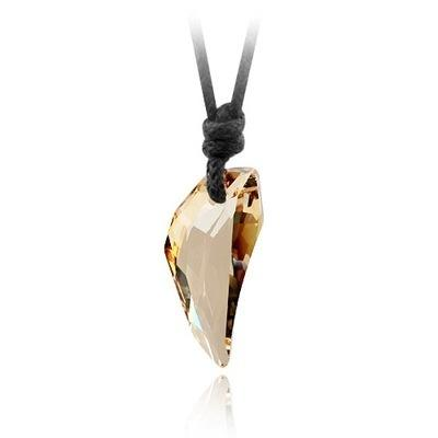 Fashion Wolf Tooth Crystal Necklace Fang Shaped Short Pendant Necklace Men Women Jewelry
