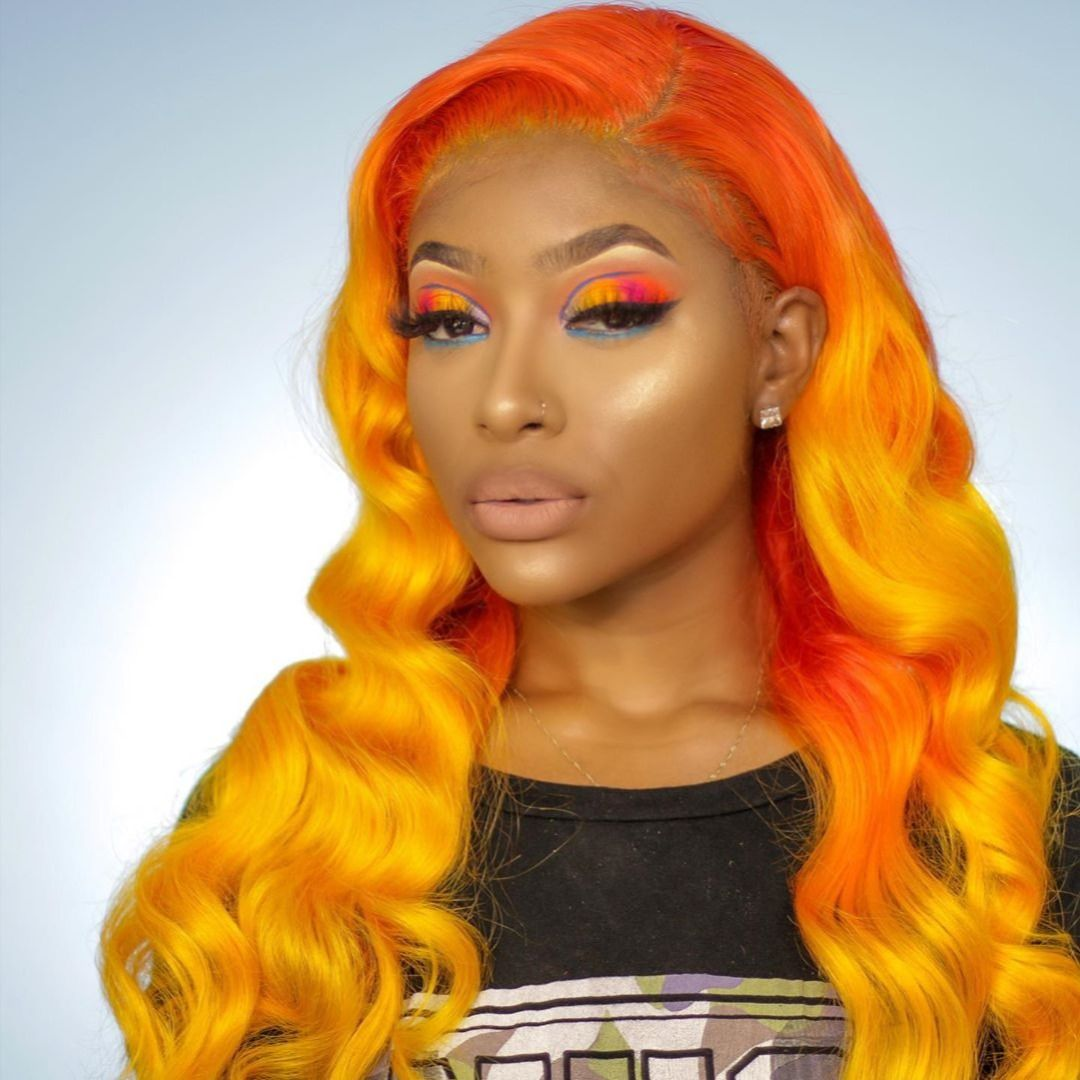 Lace Frontal Wigs Red Hair Red To Blue Hair Paula White Wigs Female Short Haircuts Mid Length Hairstyles Free Shipping
