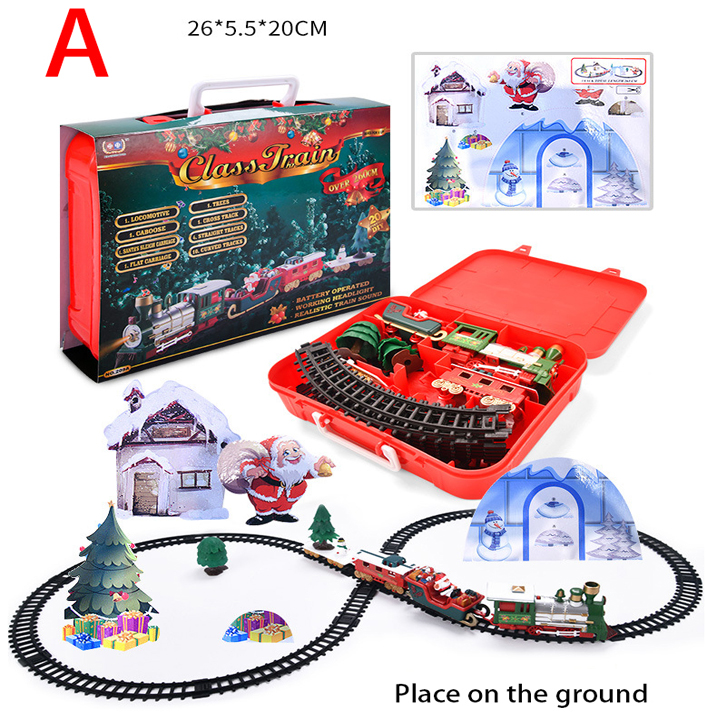 Christmas Train Toy, Surround The Tree, Electric Train, With Lights And Sounds