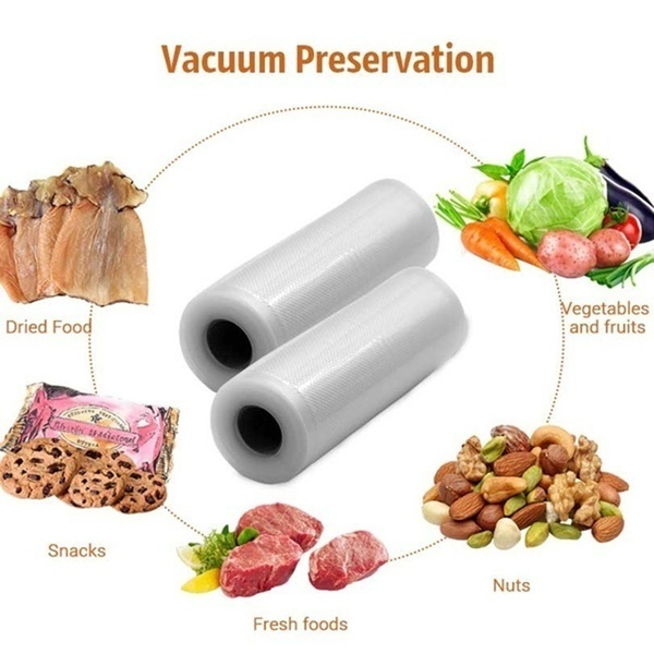 Kitchen Vacuum Sealer Bags Reusable Rolls Fresh-keeping Food Saver Storage Bag