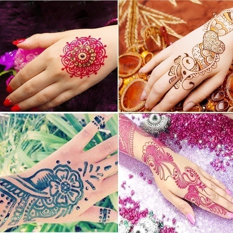 Body Painting Henna Tattoo Paste Cream for Party Wedding Art Temporary Tattoos Kit