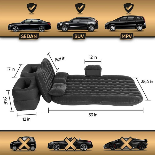 (Early Father's Day Promotions-50% OFF)INFLATABLE CAR AIR MATTRESS WITH PUMP(FREE SHIPPING WORLDWIDE)