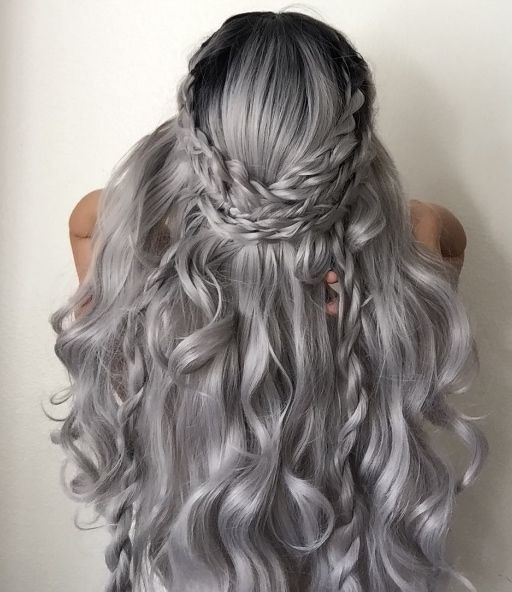 2020 New Gray Hair Wigs For African American Women Undercut Wig Harley Quinn Wig Grey Cover Up Grey Hair At 16 Bakugou Cosplay Wig