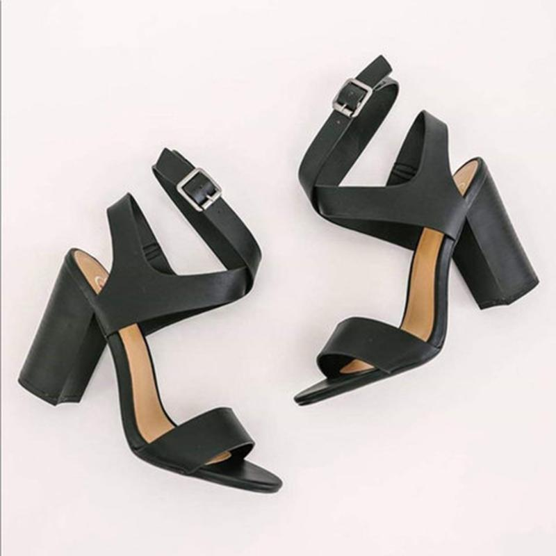 High Heels Cross-tie Strappy Adjustable Buckle Sandals