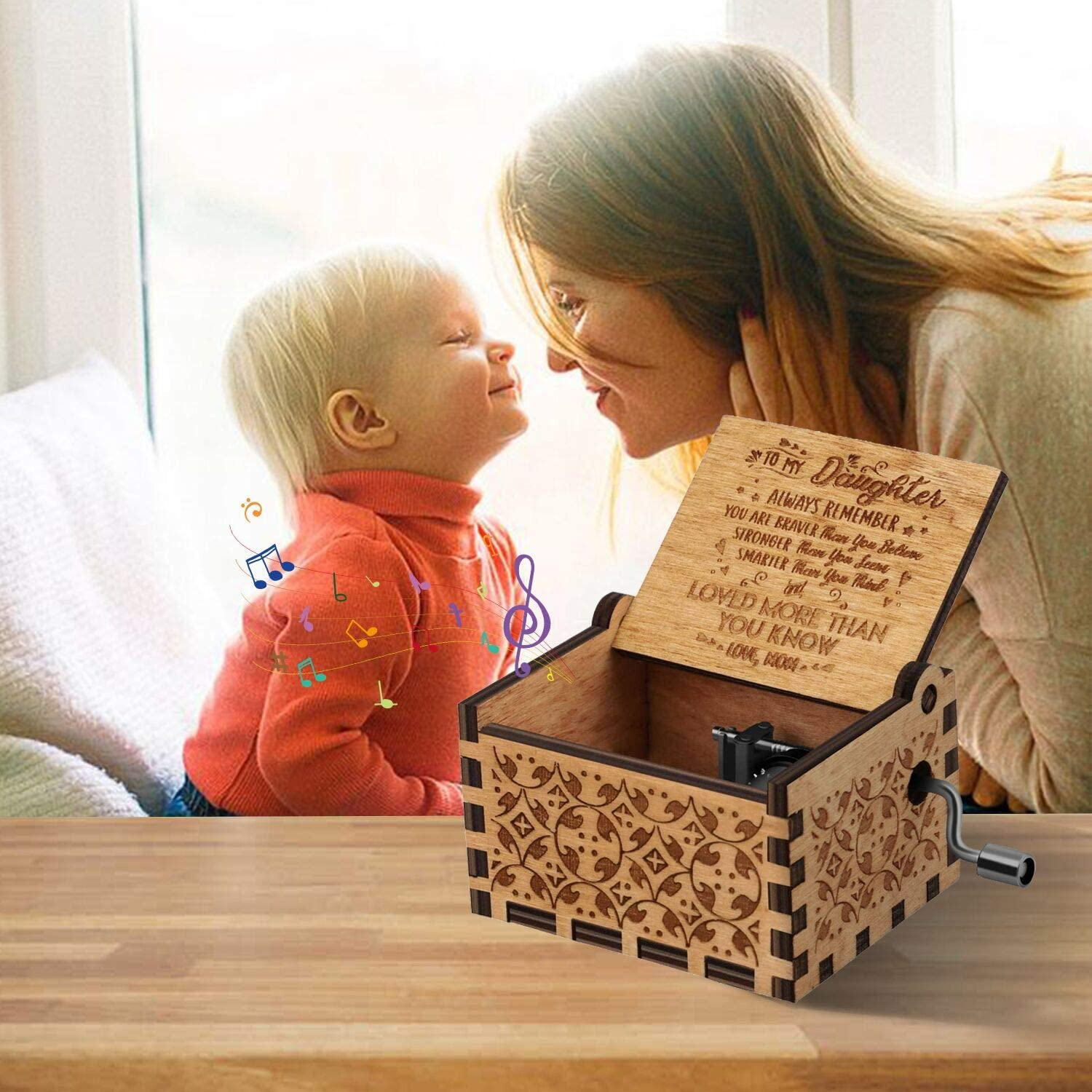 TO MY DAUGHTER - LOVE DAD AND MOM MUSIC BOX