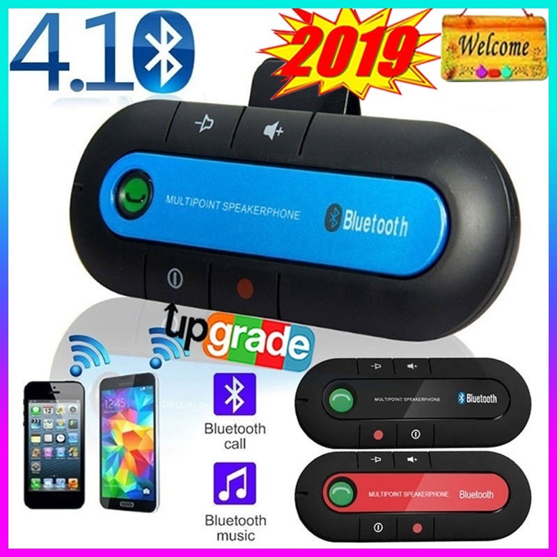 Car Sun Visor Handsfree Wireless Bluetooth 4.1 Handsfree Multipoint Speaker Magnetic Car Kit Speaker Bluetooth Receiver Car Charger 3 Colors