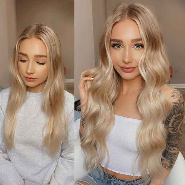 Lace Front Wigs Bella Thorne Blonde Hair Blond Wig Cosplay Medium Length Blonde Wigs With Bangs