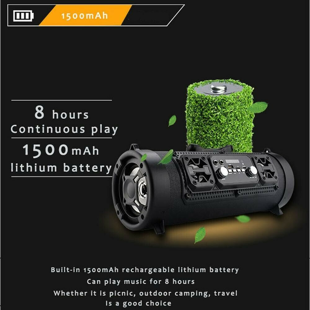 LATEST UPDATED POWERFUL PORTABLE BLUETOOTH SUBWOOFER SPEAKER(FREE SHIPPING)