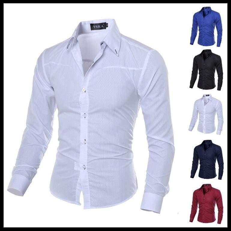 US Size XS-L High Quality Men fashion brand Gentleman style dark striped long Sleeve Shirts blouses
