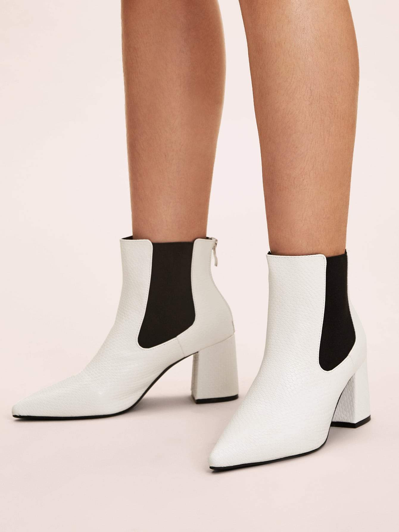 Point Toe Zip Back Chelsea Boots