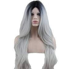 2020 New Gray Hair Wigs For African American Women Michael Jackson Wig Ventilating Needle Ashy Grey Hair Salt And Pepper Hair Color Male Body Wave Wig