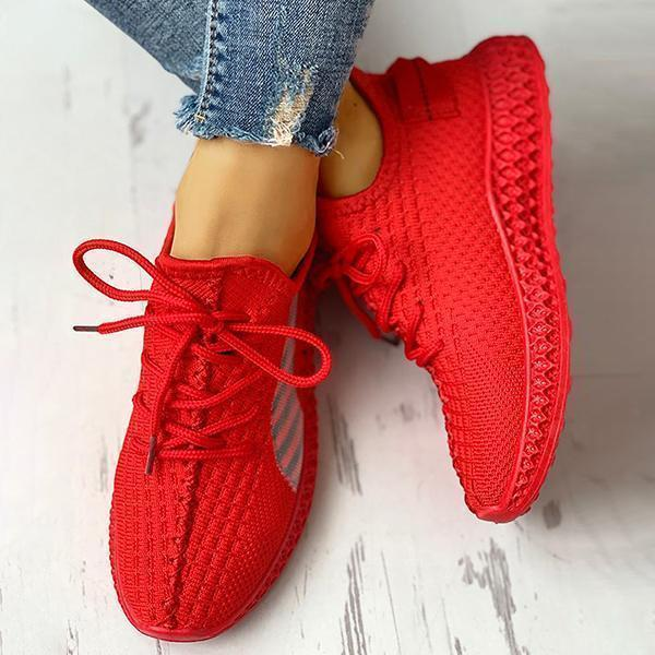 Lemmikshoes Lace-Up Breathable Casual Sneakers