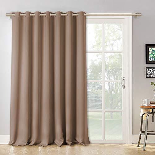 RYB HOME Hanging Room Divider - Wide Large Grommet Window Curtains for Sliding G