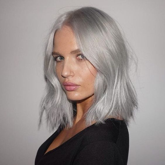 2020 New Gray Hair Wigs For African American Women Full Lace Closure Grey Hair Young Woman Grey Ombre Hair Extensions Metallic Grey Hair Color Kaneki Wig