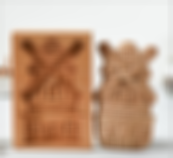 Funny Wooden Cookie Molds for Baking, Gingerbread Cookie Mold