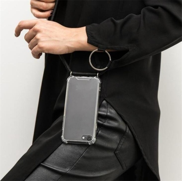 Cell Phone Cases Lanyard Neck Strap Necklace String Detachable Retractable Silicone with Rope Phone Cases