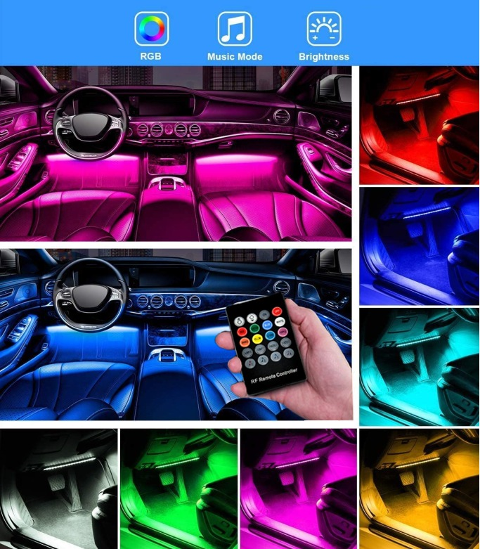 💥Early Summer Hot Sale 50% OFF💥Car Interior Ambient Lights- (Contains 4 light bars)